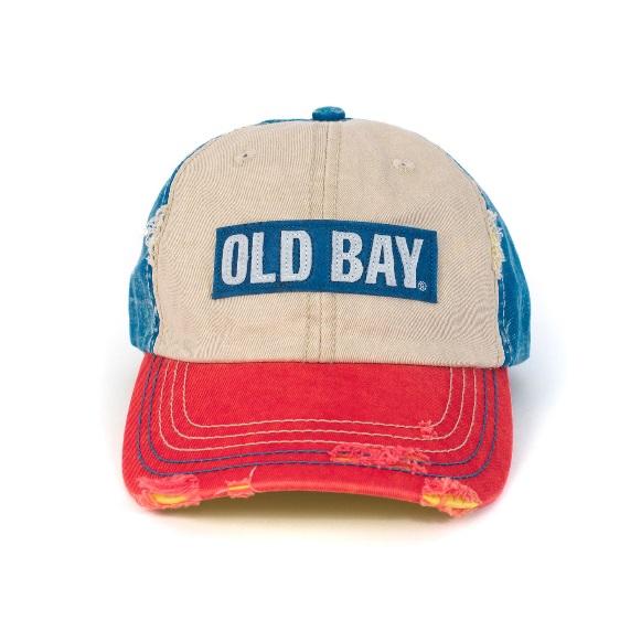 61b96aee7f6 Old Bay Distressed Logo Hat
