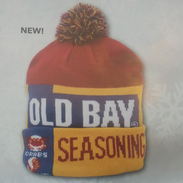 Old Bay Can Style Winter Hat With Pom  8480219ed13